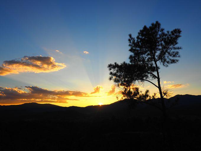 パーイ・キャニオンでは夕焼けが一番人気