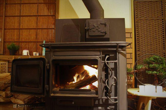 最高の贅沢!暖炉と温泉