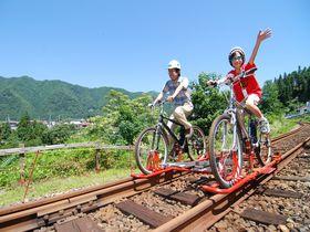 飛騨の「ガッタンゴー!!」でレールの上を爽快サイクリング!