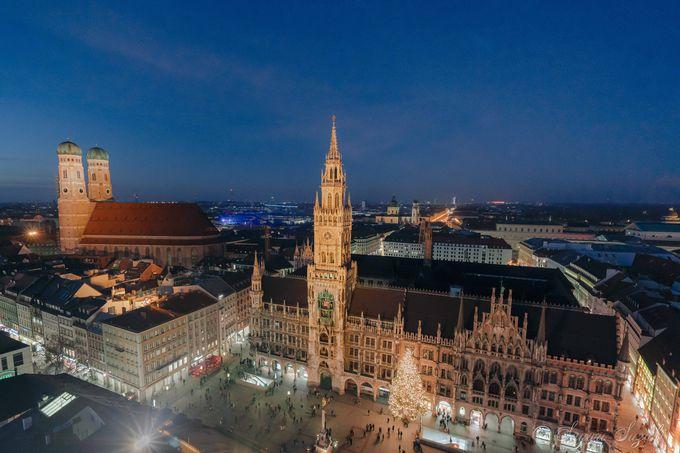 ミュンヘン市内を見渡せるペーター教会の塔からの絶景