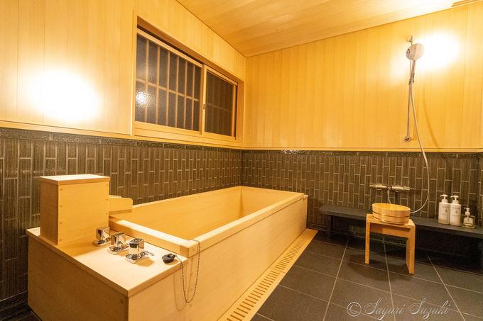 全室天然温泉付きの贅沢なお風呂