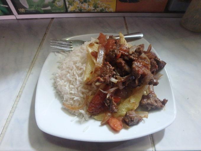 ペルーの国民食「ロモ・サルタード」
