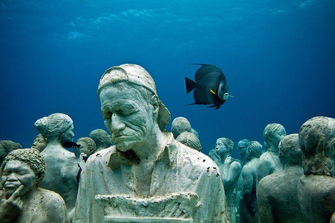海底に彫刻が沈められた理由は環境保全