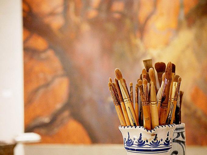 画家のアトリエを再現