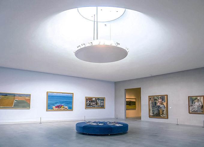 天からの光が降り注ぐ第二展示室