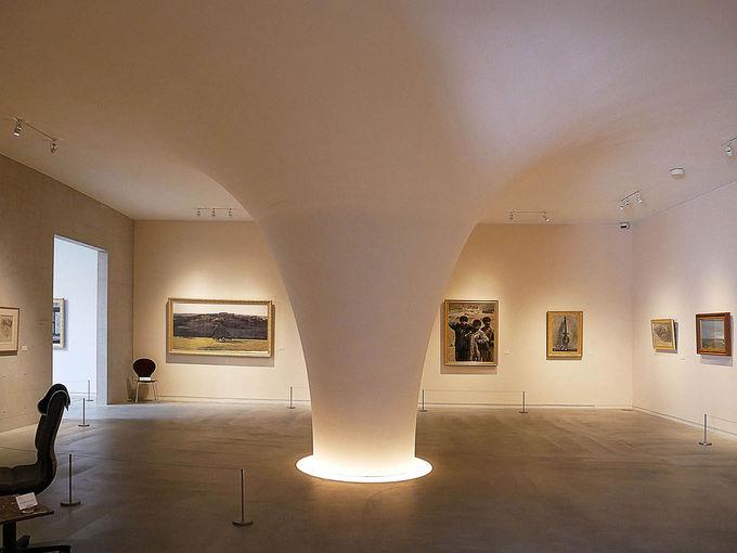 画家の内面と対峙する第一展示室