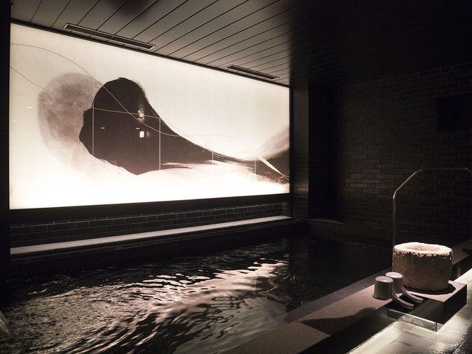 瞑想できそうな大浴場の雰囲気