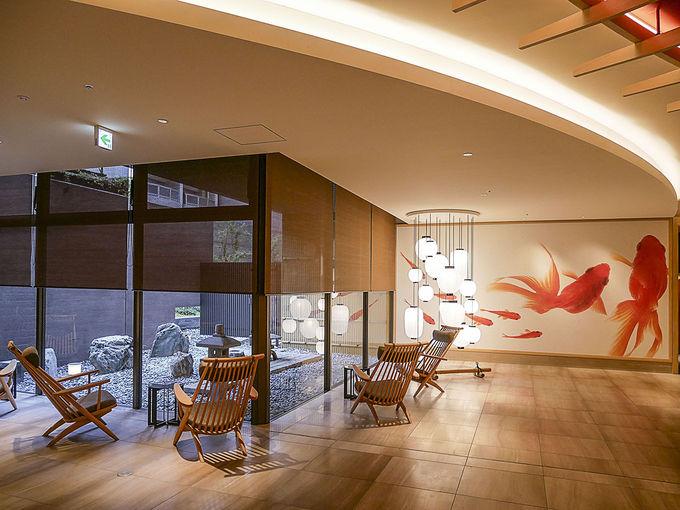館内は「京都の祭り」がモチーフ