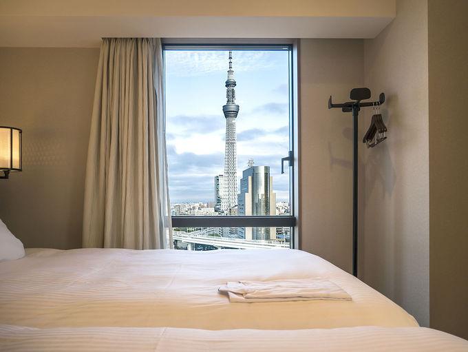 東京スカイツリーが見える客室も