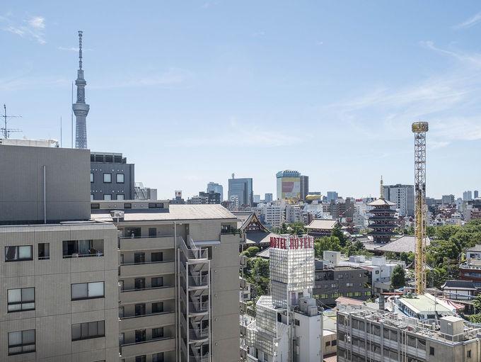 屋上から見る浅草の景色