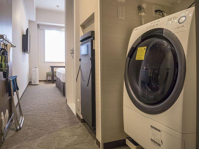 全室に洗濯機と電子レンジを装備
