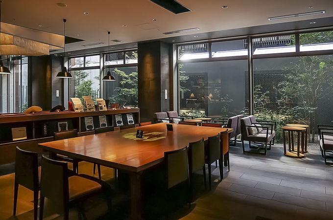 館内を彩る京都のモチーフ