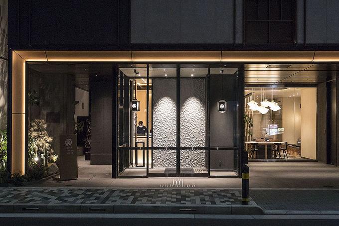 銀座の街の新しいホテル