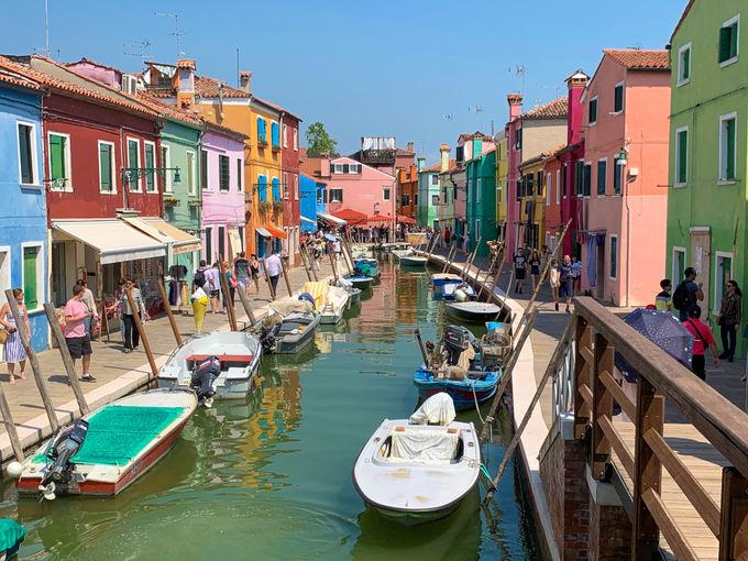 ブラーノ島はユネスコのイタリア世界遺産のひとつ