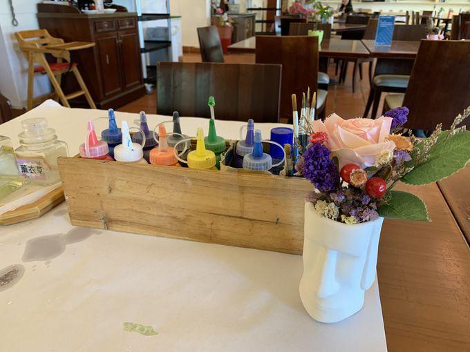 花海梵谷之家レストランでカフェタイム