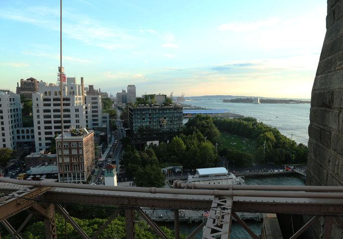 橋を眺めながら遊ぶ