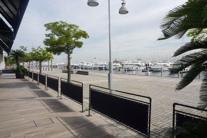 マリーナに隣接した写真映えする景観