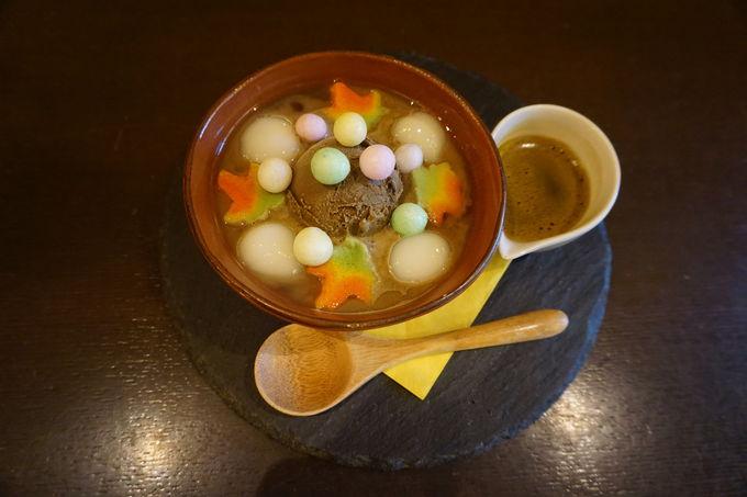 鎌倉らしいあんみつや和テイストのパフェが人気!