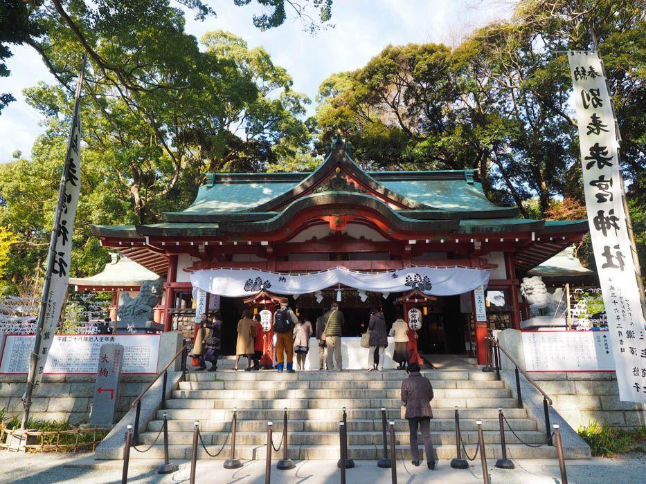 「来宮神社」樹齢2000年超の大楠パワーでご利益倍増を