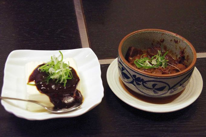 八丁味噌を使った名古屋名物「どて煮」と「味噌豆腐」
