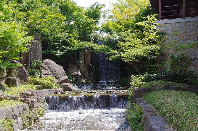 伝説に基づき作られた「龍門の滝」