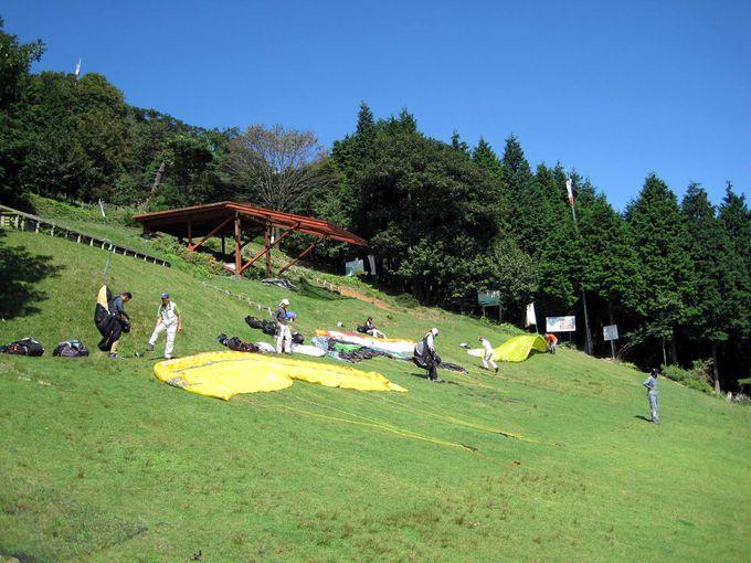 池田山はパラグライダーのメッカ