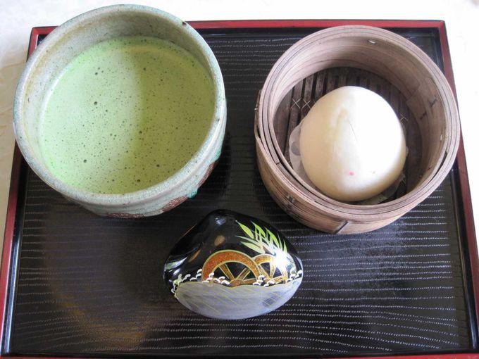 うさぎまんじゅう 抹茶セット 800円