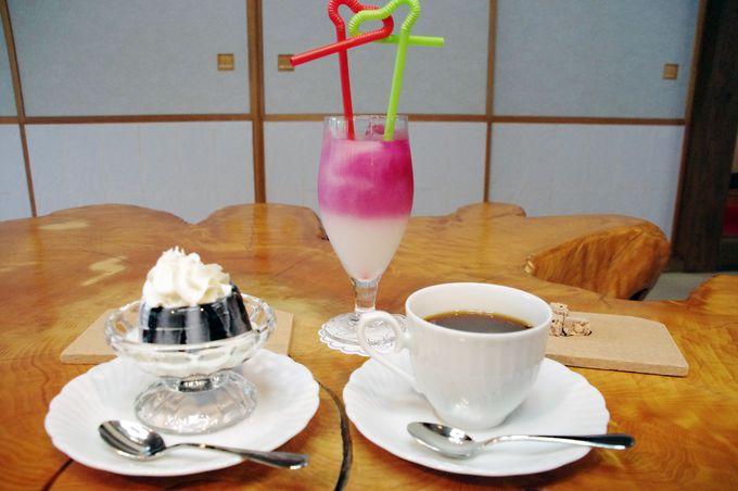 三峰山の岩清水で淹れる、絶品!名水コーヒー&夢ジュース