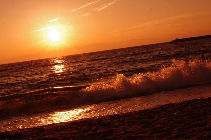 帰りたくない・・・。そんな気持ちにさせてくれる、ビーチの夕陽