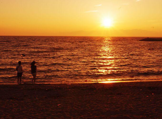 セントレア対岸にある夕陽の穴場絶景スポット「りんくうビーチ」
