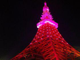 """夜の町に輝くピンクの宝石!?10月1日は、年に一度の""""東京タワー・プレミアムイルミ""""を見に行こう!"""