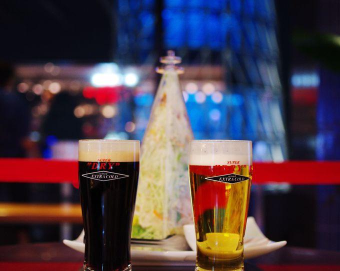 """すぐ目の前はスカイツリー!アサヒビール直営店で""""プハ〜ッ!"""""""