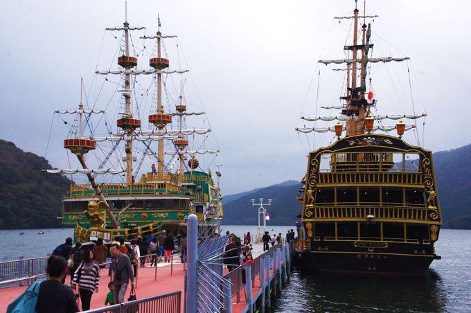 朝一の海賊船は狙い目!箱根フリーパスなら3つの海賊船乗り放題