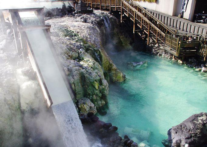 草津温泉の中心!大迫力の「湯畑」から観光スタート