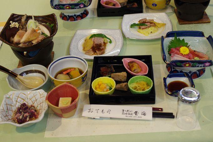 日本海まで1時間!お料理はとびきり新鮮で美味しい