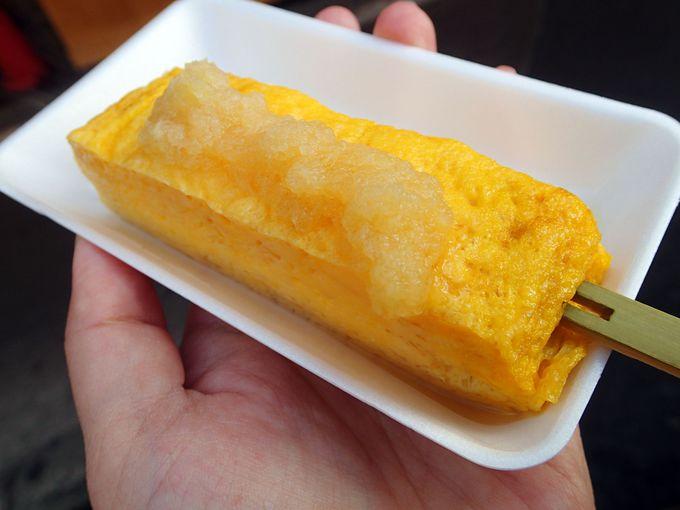 【築地 食べ歩き2】味をチョイス出来る卵焼き!山長「串玉」