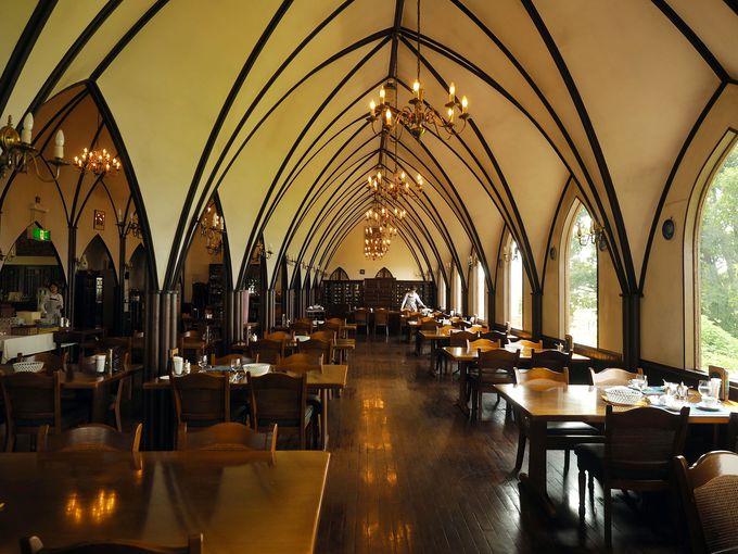 長崎の教会をイメージしたワイナリーレストラン