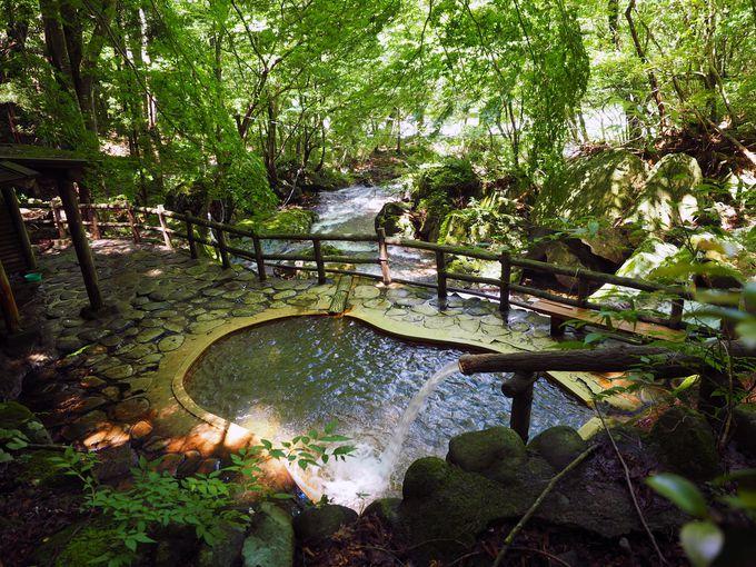 松楓楼 松屋から歩いていける人気の秘湯「岩の湯」・「不動の湯」