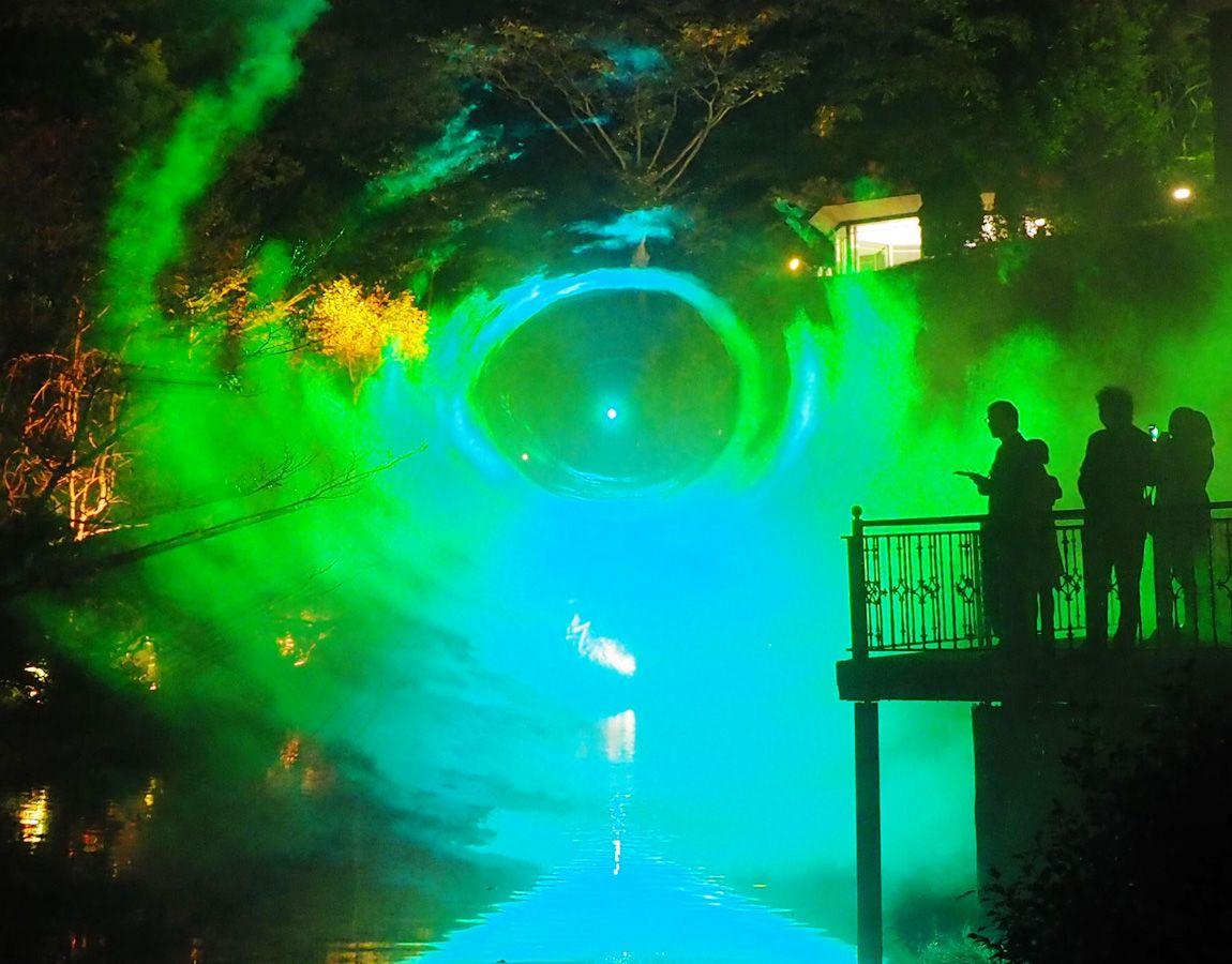 これが「ホテル椿山荘 東京」で見られるオーロラ