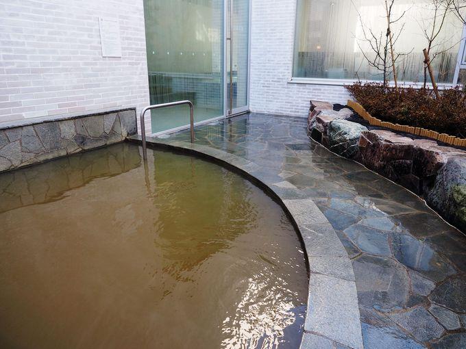 天然温泉を使った露天風呂
