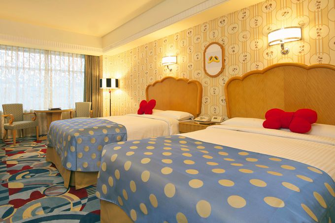 「ディズニーアンバサダーホテル」で泊まれるキャラクタールーム