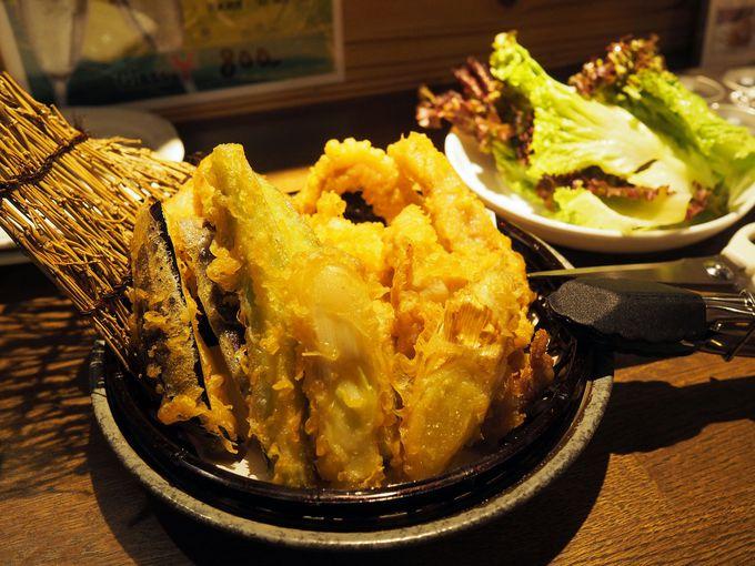 こんなの初めて!超ヘルシーな肉の天ぷら『肉天国』