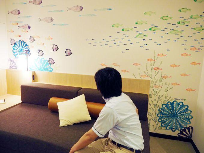 【612号室】まるでキュートな水族館。客室が熱海の海の中に…
