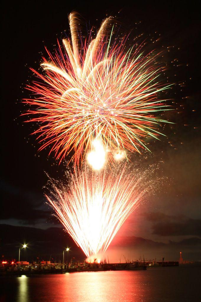 夏のお楽しみ!下北半島最大級の大間町花火大会
