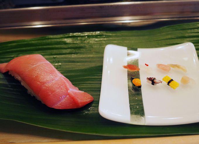 思わず笑顔がこぼれる一粒寿司