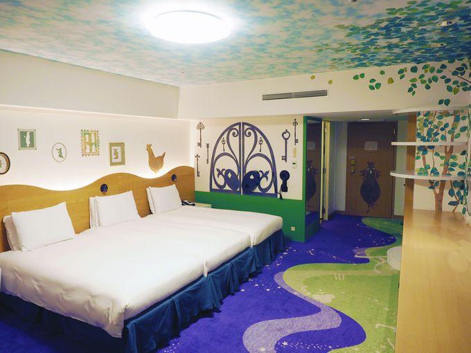添い寝しやすい大きなベッドに、開放感あふれる広い客室!