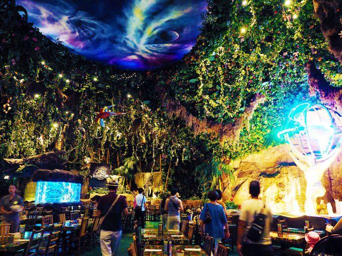 店内を埋め尽くすジャングルの世界