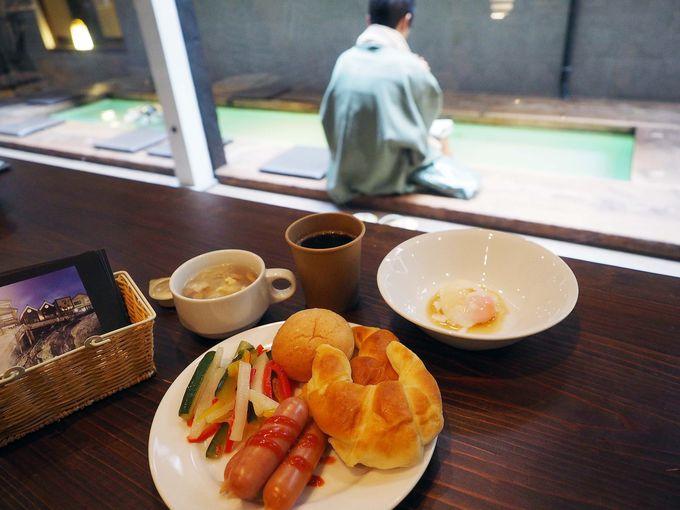 素泊まり専用なのに無料の朝食バイキング付き