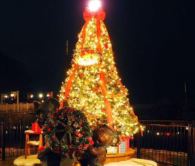 ジェラトーニも仲間入り!パワーアップしたクリスマスツリー