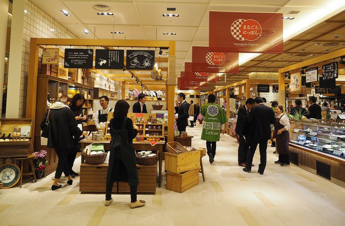 日本各地の食に出会える1Fフロア
